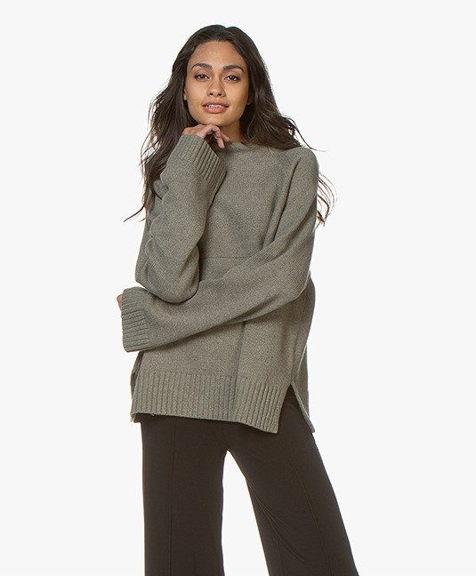 By Malene Birger Brianne Wool Blend Sweater - Olive Night