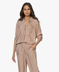 Filippa K Soft Sport Beach Twill Blouse - Almond