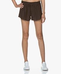 James Perse Silk Charmeuse Shorts - Kona