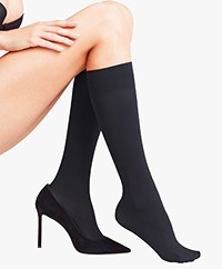 FALKE Pure Matt Knee Sock - Black