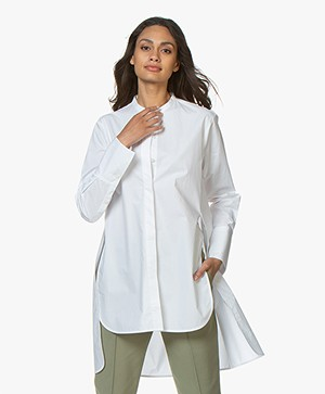By Malene Birger Micki Long Poplin Blouse - Pure White