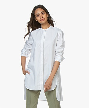 By Malene Birger Micki Lange Poplin Blouse - Wit