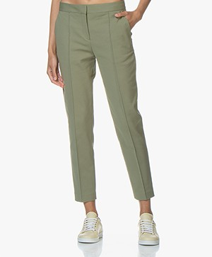 By Malene Birger Santsi Cotton Blend Pants - Olivine