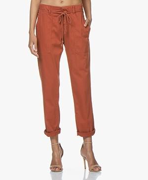 Drykorn Bad Loose-fit Cotton Blend Pants - Terracotta Orange