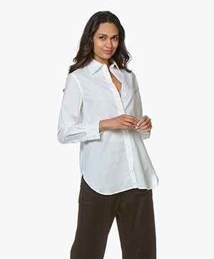 Filippa K Indra Cotton Silk Blouse - Wit