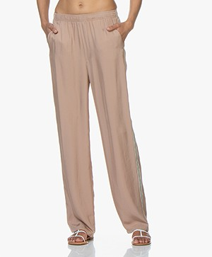 Filippa K Soft Sport Stripe Twill Broek - Almond