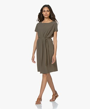 JapanTKY Moy Travel Jersey Dress - Khaki