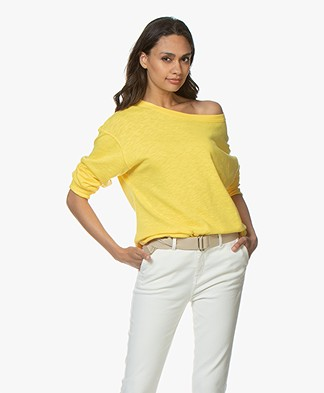 American Vintage Sonoma Katoenen Sweatshirt - Canary