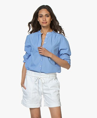 Closed Jayla Katoenen Poplin Blouse - Oxford Blue