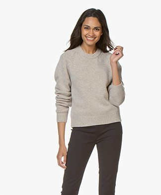 Filippa K Soft R-Neck Sweater - Beige Melange