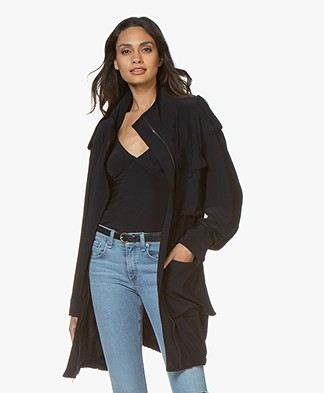 Norma Kamali Turtle Cargo Jacket/Dress - Midnight