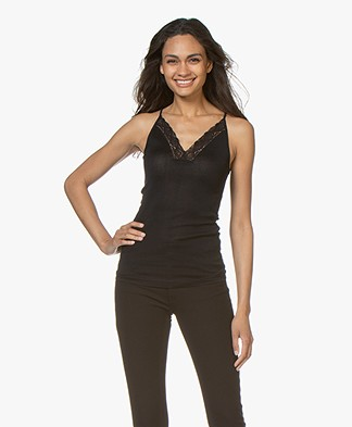 Vanessa Bruno Bretelle Camisole with Lace - Marine