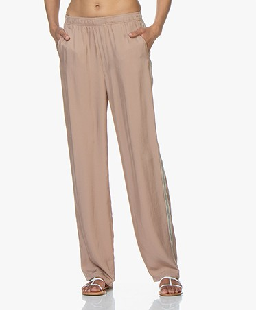 Filippa K Soft Sport Stripe Twill Pants - Almond