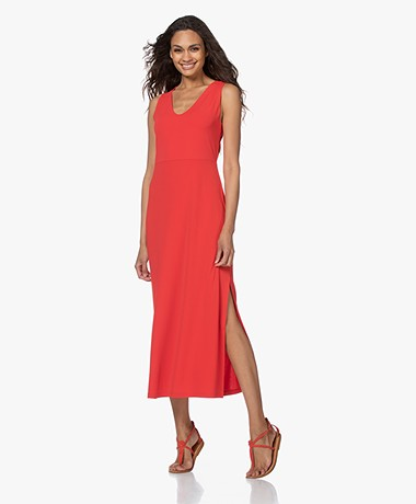 no man's land Crepe Jersey Maxi Dress - Red