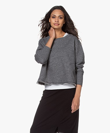 American Vintage Pomitree French Terry Sweatshirt - Charcoal Mélange