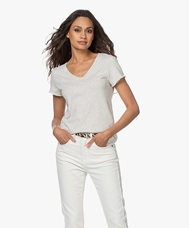 American Vintage Sonoma Slub Jersey T-shirt - Polar Melange