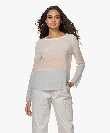 no man's land Delicate Mohair Blend Sweater - Multi Soft Pastel