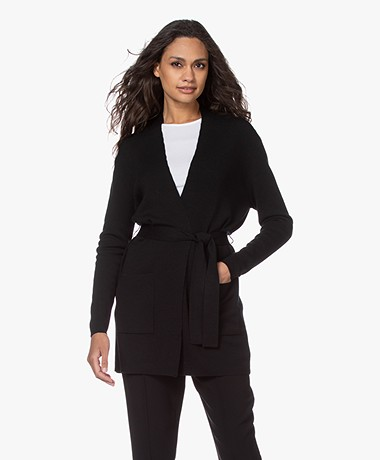 Filippa K Belted Mid Cardigan - Black