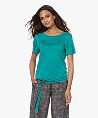 no man's land Cupro T-shirt met Strikzoom - Persian Green