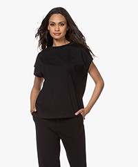 Filippa K Soft Sport Crew Neck T-shirt - Black