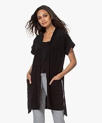 Filippa K Soft Sport Terry Jersey Kimono - Black