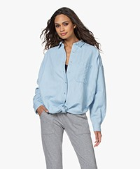 Closed Dani Blouse with Knot Detail - Light Blue