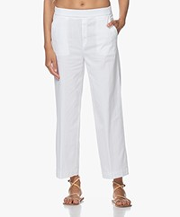 LaSalle Wide Leg Lyocell Blend Pants - White