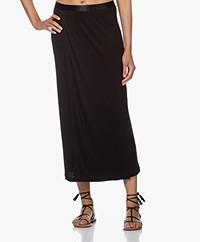 Filippa K Viola Jersey Midi Skirt - Black