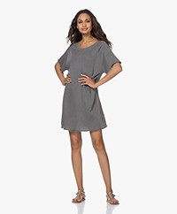 American Vintage Capiday Organic Cotton Sweater Dress - Metal