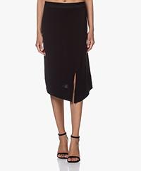 By Malene Birger Coaxana Crepe Jersey Skirt - Black