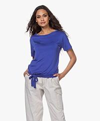 no man's land Cupro T-shirt met Strikzoom - Royal Blue