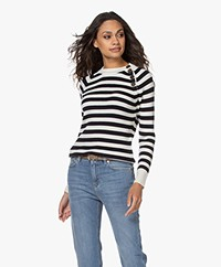 Resort Finest Porto Merino Wool Striped Sweater - Navy
