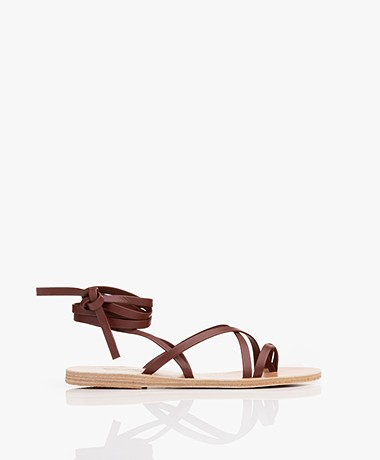 Ancient Greek Sandals Morfi Leren Sandalen - Chestnut
