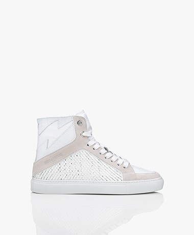 Zadig & Voltaire High Flash Structured Sneakers - White