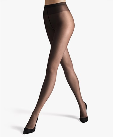 Wolford Sheer 15 Tights - Nearly Black