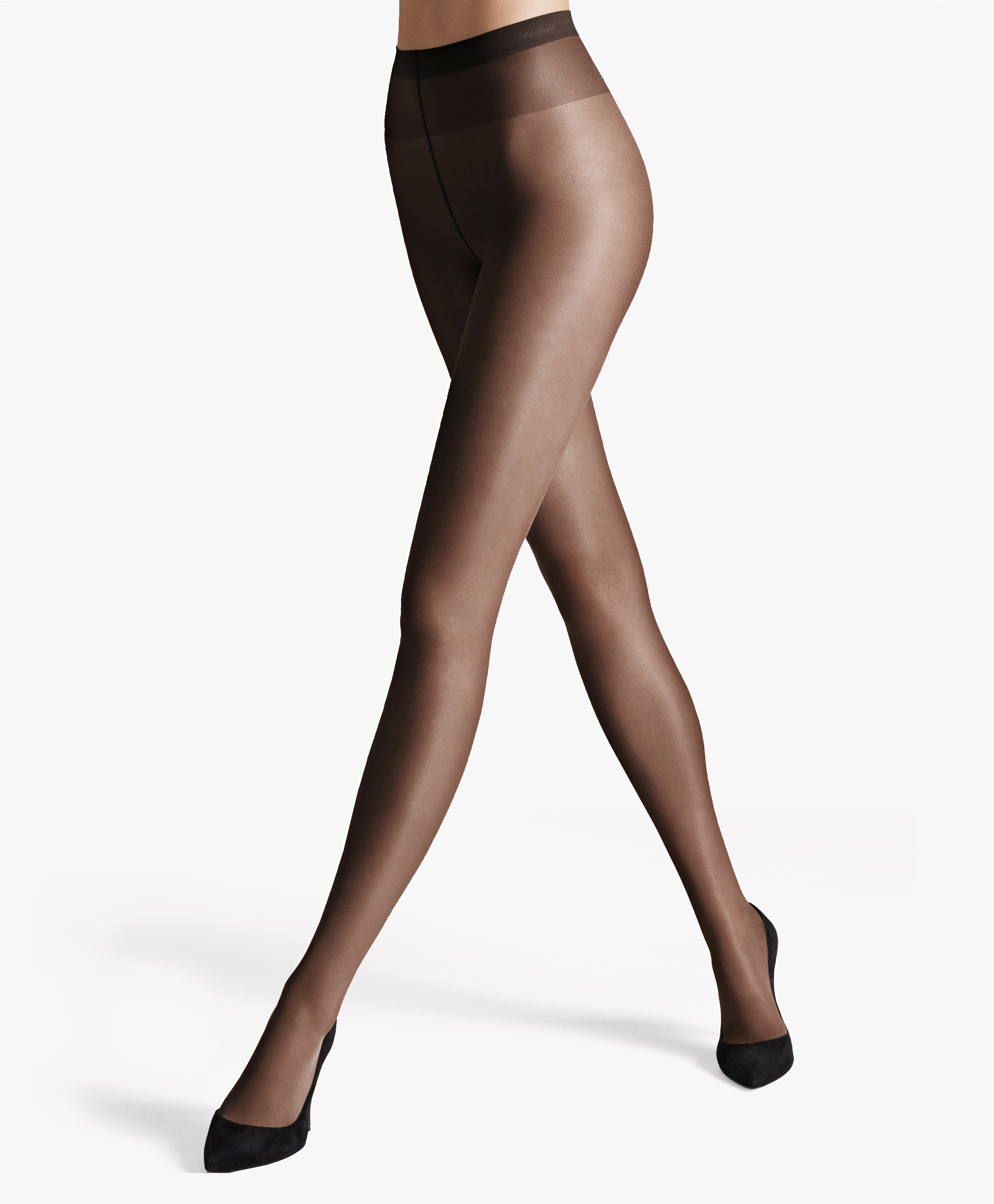 Wolford Satin Touch 20 Sheer Black Tights Size Large 12102 for sale online