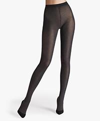 Wolford Cotton Velvet 90 Panty - Zwart Mêlee