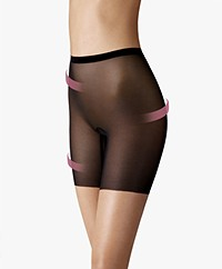 Wolford Tulle Control Shorts - Zwart