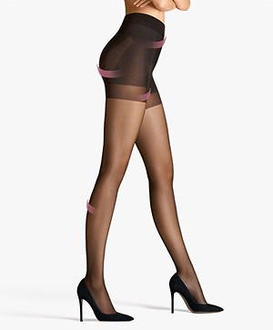 Wolford Pure 30 Complete Support Tights - Nearly Black