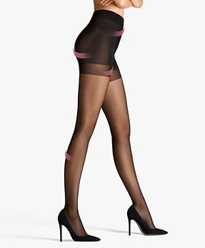 Wolford Pure 30 Complete Support Tights - Black