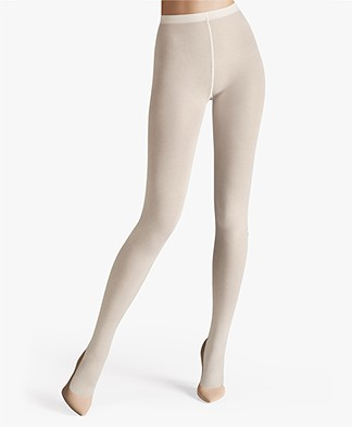 Wolford Cotton Velvet 90 Panty - Ecru