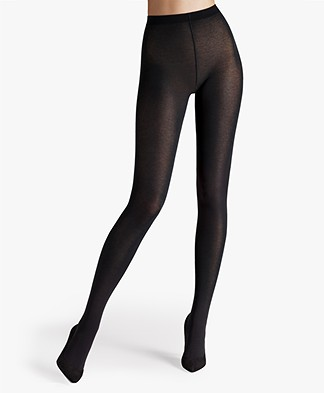 Wolford Cotton Velvet 90 Tights - Black