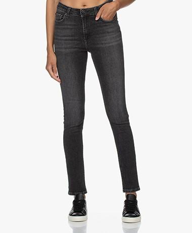 by-bar Katoenmix Skinny Jeans - Donkergrijs