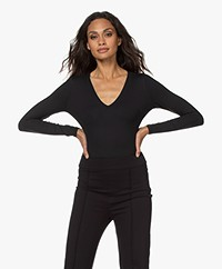SPANX® Suit Yourself Longsleeve V-hals Bodysuit  - Classic Black