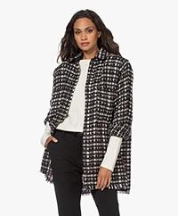 IRO Leopold Boucle Shirt Style Blazer - Mixed Grey