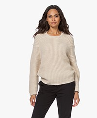 by-bar Milan Alpaca-wool Blend Chunky Knitted Sweater - Sand