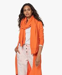 KYRA Oversized Cotton and Wool Blend Scarf - Warm Orange