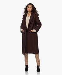 Drykorn Algate Virgin Wool Blend Half-length Coat - Mahogany