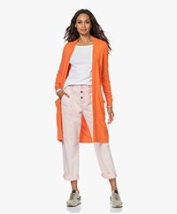 KYRA Esther Knee-length Open Cardigan - Warm Orange