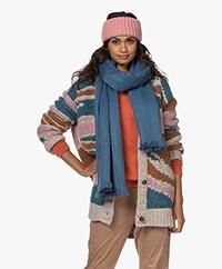Alpaca Loca Handgemaakte Uni Sjaal in Alpaca - Lagoon Blue